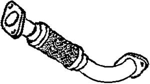Flexrør, udstødningssystem, Foran