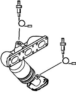 Katalysator, Vänster fram