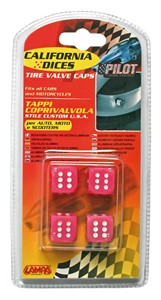 VALVE CAP DICE 4 PCS,PINK+WHITE DOT, Universal