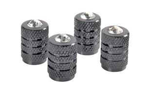 TITANIUM VALVE CAPS WITH DIAMONDS, Universal