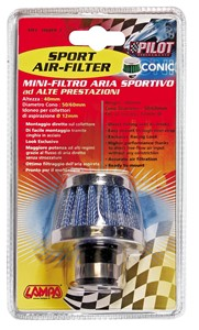 12MM. CONICAL AIR FILTER, Universal