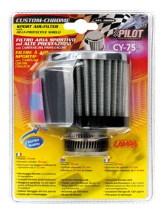 12MM. CYLINDRICAL AIR FILTER WITH HOUSING, Universal