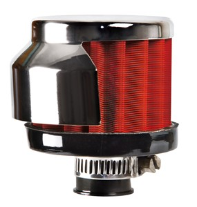 12MM. CYLINDRICAL AIR FILTER WITH HEAT SHIELD, Universal