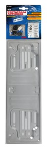 STEEL FRONT PLATE HOLDER, SILVER, Universal