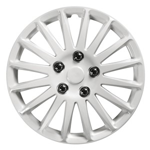 """4PCS ABS WHEEL COVER 15"""" C-071 TYPE NESTED-WHITE, Universal"""