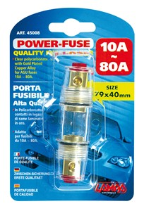 """""""POWER-FUSE"""" QUALITY FUSE HOLDER FOR AGU FUSES 10->80AMP., Universal"""