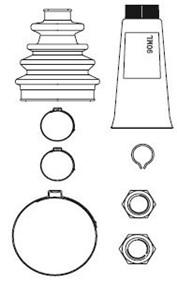 Reservdel:Ford Escort Dammskydd, drivaxel, Fram, Yttre