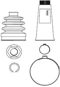 Paljekumisarja, vetoakseli, Pyörän puoli, Etuakseli, oikea, Etuakseli, vasen