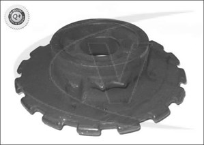Rubber Buffer, suspension, Rear, Lower