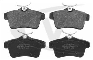 varaosat:Citroen C4 Jarrupalasarja, levyjarru, Takana