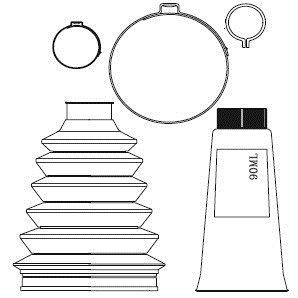 Paljekumisarja, vetoakseli, Etuakseli, Pyörän puoli