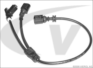ABS-givare, Sensor, hjulvarvtal, Framaxel, Vänster fram