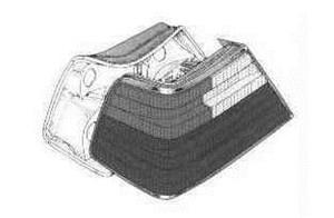 Reservdel:Mercedes 260 Baklykta, Ytter, Vänster
