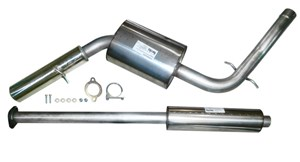 Sports exhaust system. Stainless