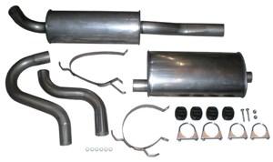 Rostfritt avgassystem, halvsats