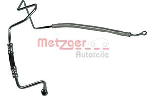 Hydraulikslange, styretøj, Fra hydraulikpumpe til tandstang
