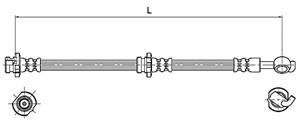 Bremseslange, Bak, Venstre