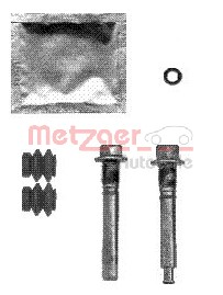 Guide Bolt, brake caliper, Rear