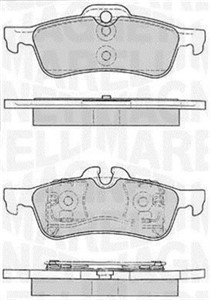 Brake Pad Set, disc brake, Rear axle