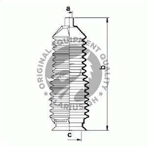 Reservdel:Mazda 626 Dammskydd, styrsystem