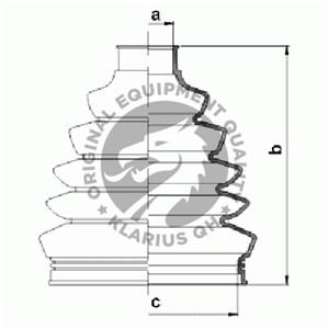 Reservdel:Volvo V40 Dammskydd, drivaxel, Yttre