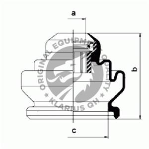 Reservdel:Fiat Uno Dammskydd, drivaxel, Inre, Höger fram, Vänster fram