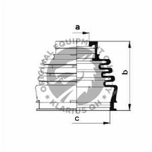 Dammskydd, drivaxel, Framaxel, Inre, Fram, höger eller vänster, Höger fram, Vänster fram, Vänster