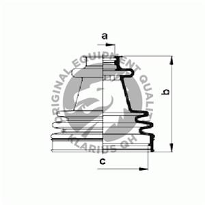 Paljekumisarja, vetoakseli, Pyörän puoli, Eteen, vasen