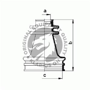 Drivaksel Manchetsæt, På indersiden, Foran til højre, Foran til venstre