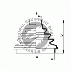 Reservdel:Citroen Evasion Dammskydd, drivaxel, Yttre