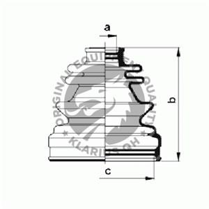 Boot Kit, drive shaft, Inner, Wheel side