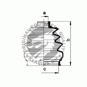 Reservdel:Fiat Uno Dammskydd, drivaxel, Framaxel, Inre, Vänster fram