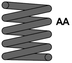 Reservdel:Citroen Zx Spiralfjäder, Framaxel