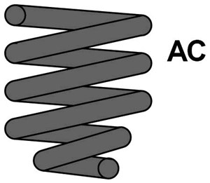 Reservdel:Citroen Evasion Spiralfjäder, Framaxel