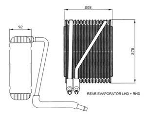 Evaporator, air conditioner, Rear