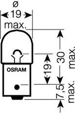 Pære, posisjons- / sidemarkeringslys, Bak, Foran, Foran eller bak, Høyre eller venstre, Sideinstallasjon, Øvre