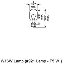 Glödlampa, extrabromsljus, Bak, Fram, Ytterspegel, Fram eller bak, Sidoinstallation, Stötfångare