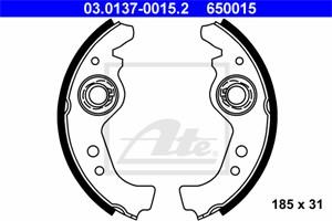 Reservdel:Fiat 128 Bromsbackar, sats, Bak, Fram