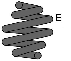 Reservdel: Honda Spiralfjäder, Bakaxel