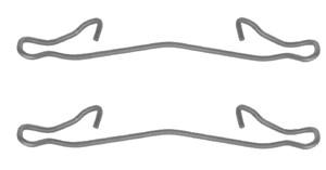Tibehørsett, skivebremse belegg, Bak, Foran, Framaksel
