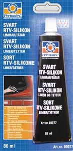 Svart RTV Silikon  80 ml, Universal