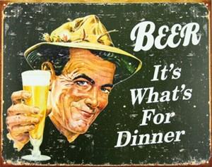 Blikkskilt/Ephemera- Beer 4 Din, Universal