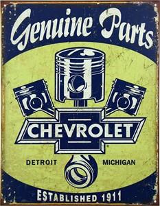 Blikkskilt/Chevrolet Parts, Universal