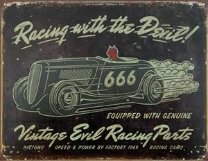 Blikkskilt/Vintage-Evil racing, Universal