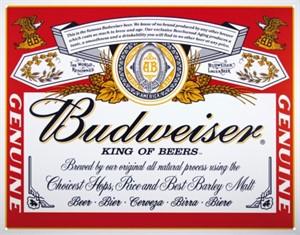Blikkskilt/Budweiser Can Label, Universal