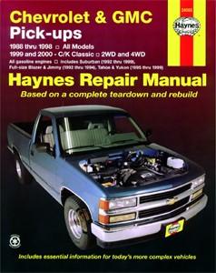 Haynes Reparationshandbok, Chevrolet & GMC Pick-ups, 2WD 4WD, Universal