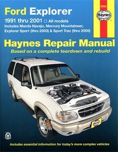 Haynes Reparationshandbok, Ford Explorer Sport 03, Trac 05, Universal