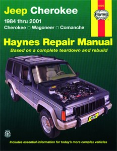 Haynes Reparationshandbok, Jeep Cherokee, Wagoneer, Comanche, Universal