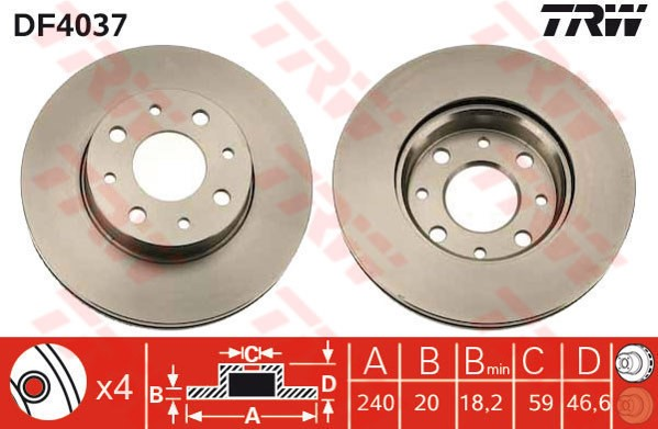 FIAT GRANDE PUNTO 1.4 1.6 1.9 FRONT /& REAR BRAKE DISCS AND PADS CHECK SIZE