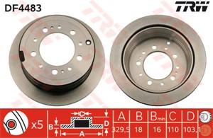 Brake Disc, Rear axle